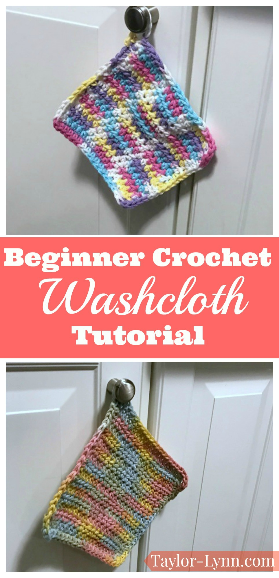 Crochet washcloth tutorial