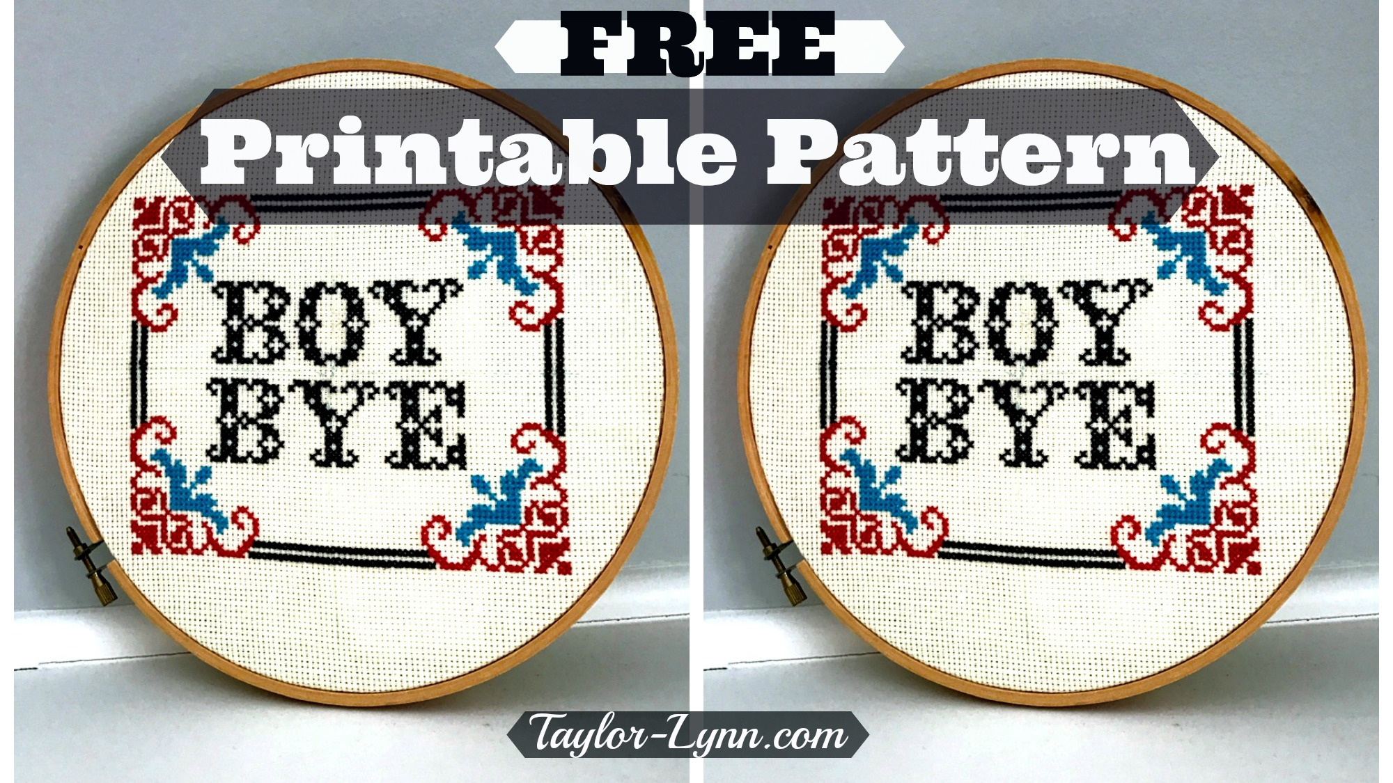 cross-stitch, boy bye, cross stitch