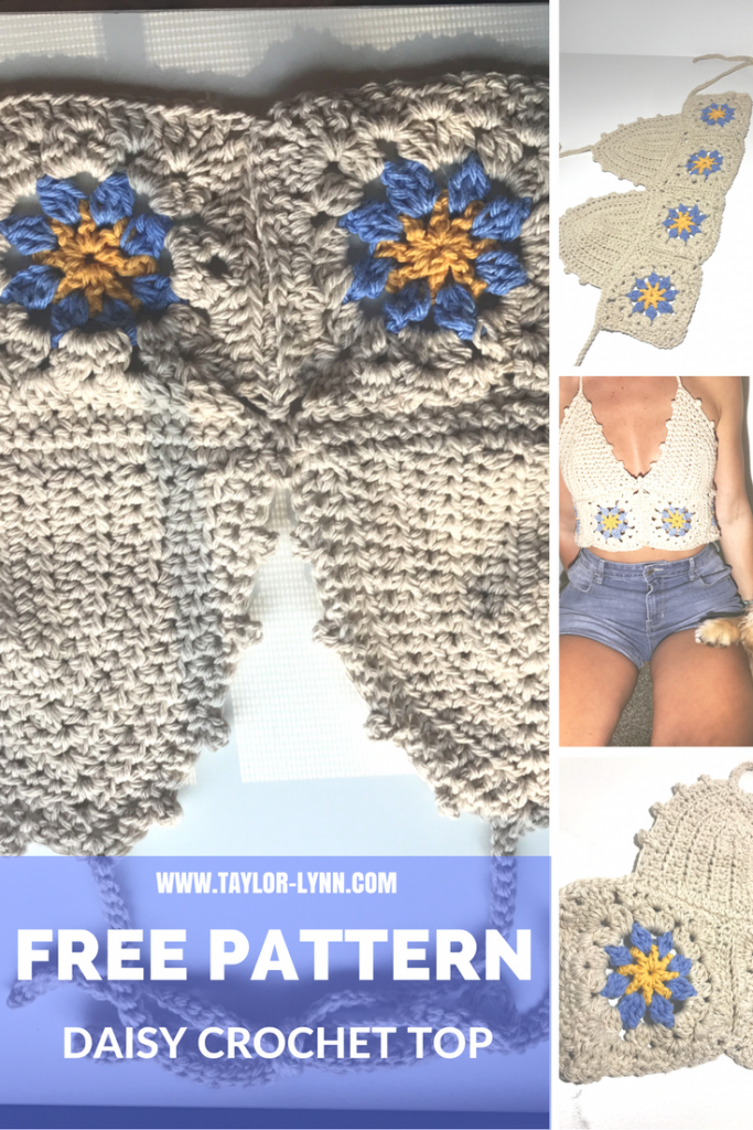 daisy halter top, flower top, bikini top, bikini, crochet, crochet bikini, knit, swim, swimwear, crochet swim, bikini pattern, crochet bikni pattern, crochet bikini tutorial, crochet tutorial, how to, DIY, DIY bikini, Beginner Crochet tutorials, beginner crochet projects, crochet top, bando, bando pattern. bando crochet top, crochet bando, crochet bando patternboho, bohemian, boho top, crochet boho top, boho crochet top, crochet top, boho, festival,