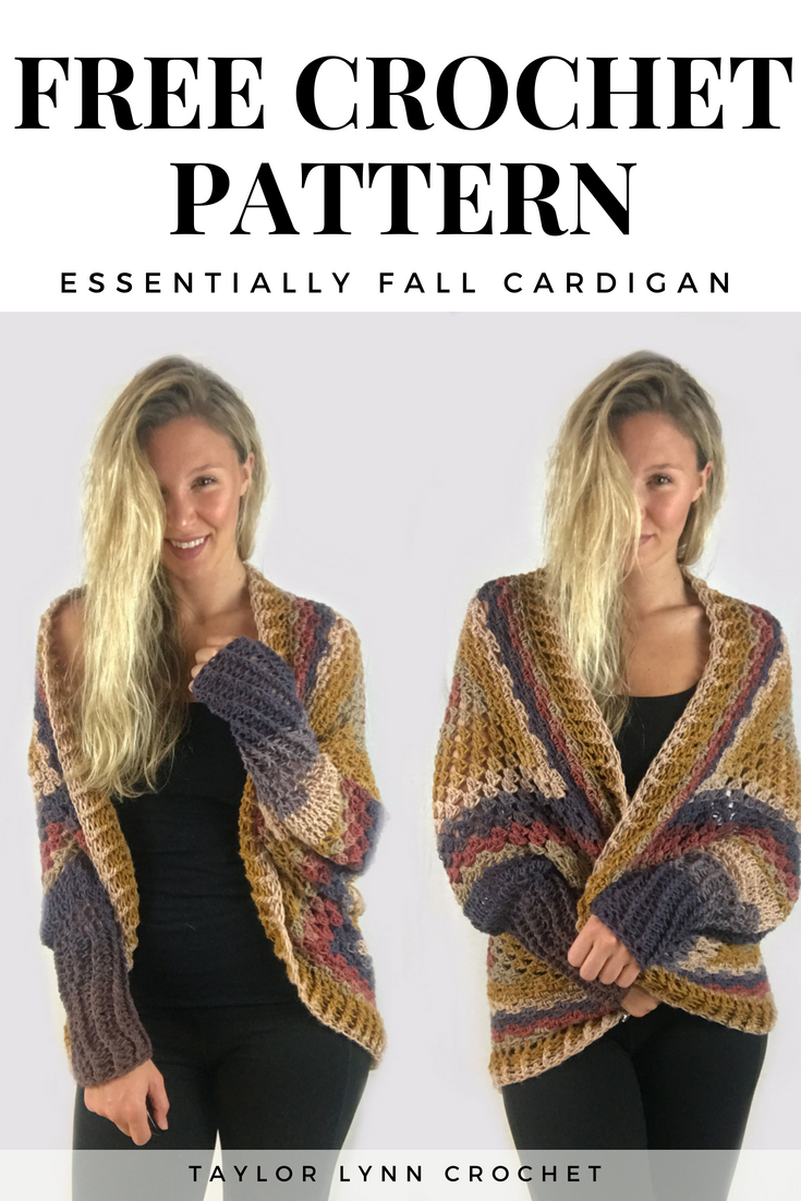 Essentially Fall Crochet Cardigan Pattern -