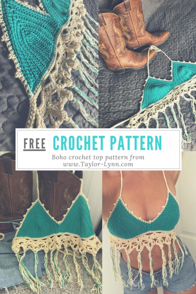 Boho Crochet Top Pattern Taylor Lynn