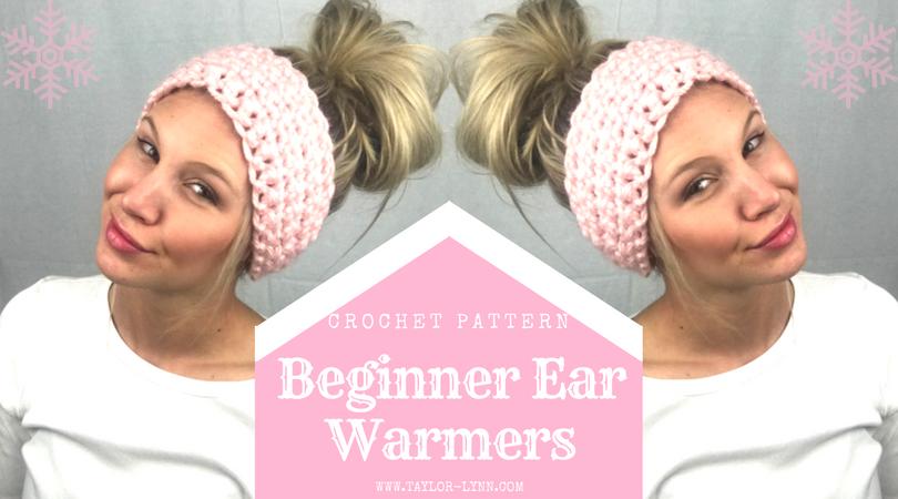 Simple Beginner Chunky Crochet Ear Warmers Pattern Taylor Lynn Mesmerizing Chunky Crochet Ear Warmer Pattern