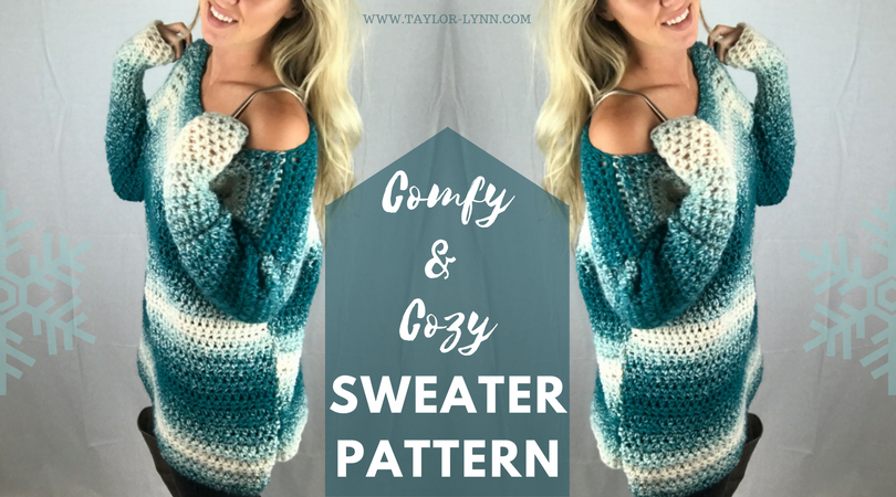 Crochet sweater, crochet sweater pattern, sweater pattern