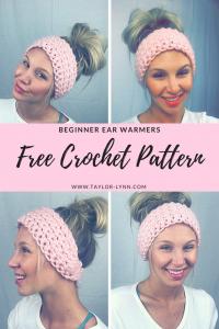 beginner crochet hat, crochet hat, crochet, crochet pattern, pattern, hat pattern, beginner hat, beginner crochet hat pattern, crochet ear warmers, crochet pattern,