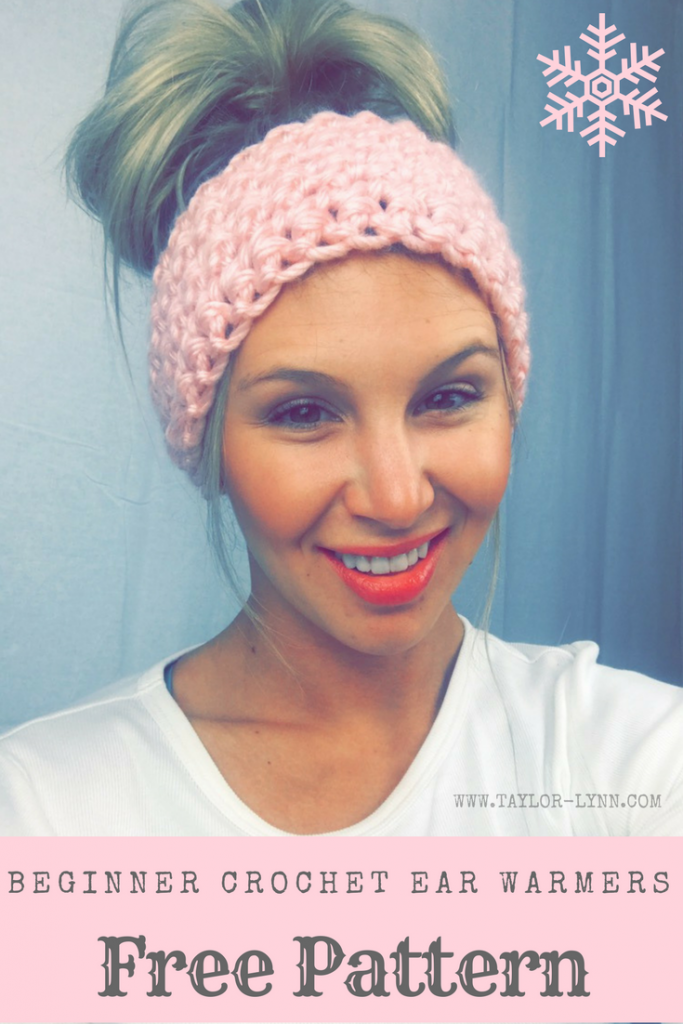 Simple Beginner Chunky Crochet Ear Warmers Pattern
