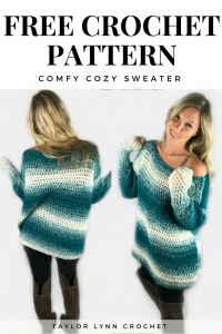 sweater, sweater pattern, crochet sweater, crochet sweater pattern, taylor lynn crochet