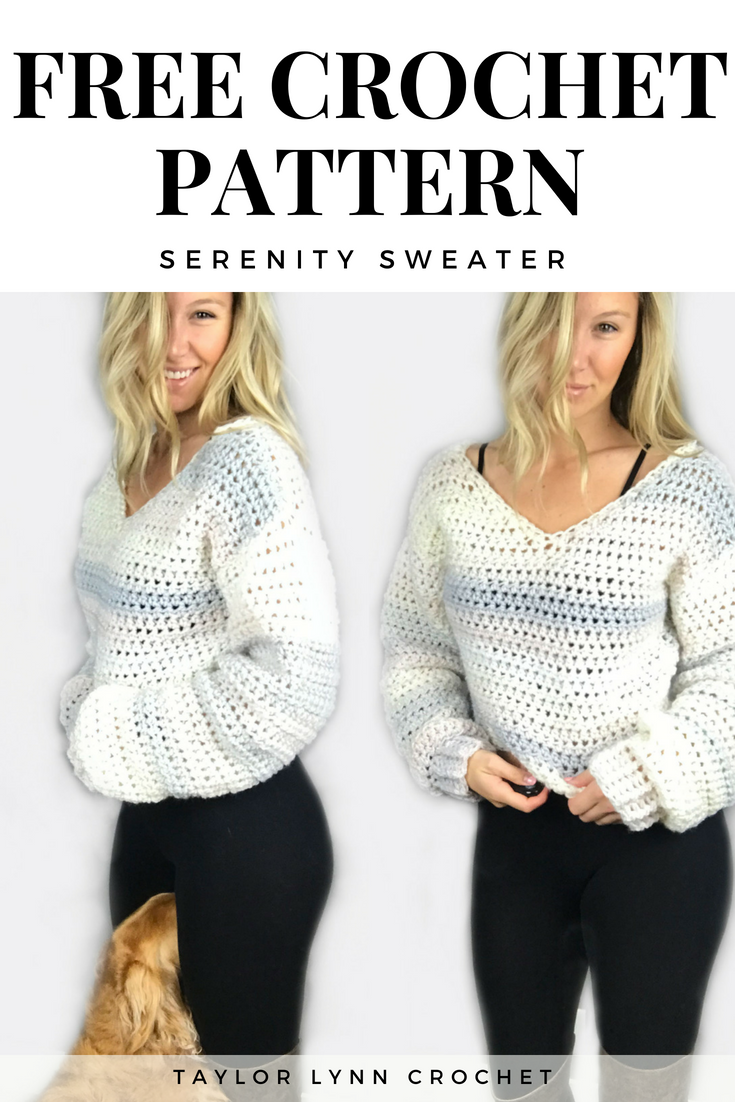 serenity sweater, taylor lynn crochet, sweater pattern, crochet sweater