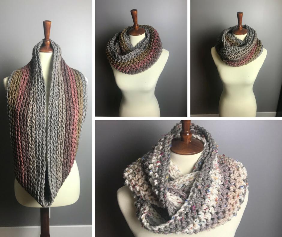 faux knit, hdc, half double crochet, knit, knit stitch, infinity, infinity scarf, scarf, scarf pattern, scarf pattterns, crochet scarf, scarves