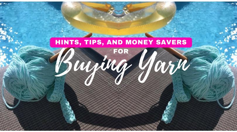 saving money on yarn, save money