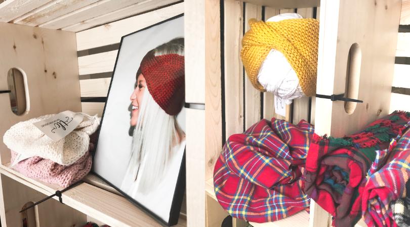 indoor market setup, market setup, craft display, craft setup, craft booth, craft fair, craft fair booth, knitwear, crochet