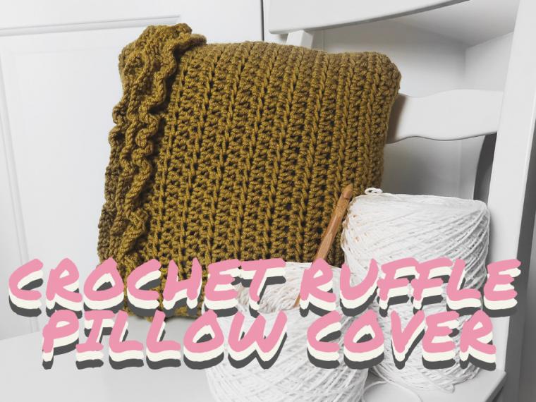 Ruffle pillow, crochet pillow, pillow, pillow pattern, ruffle, ruffles, pillow ruffles, ruffle pillow, pillow cover, pillow slip, crohcet pattern, crochet pillow cover