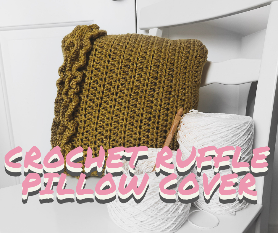 Ruffle pillow, crochet pillow, pillow, pillow pattern, ruffle, ruffles, pillow ruffles, ruffle pillow, pillow cover, pillow slip, crohcet pattern, crochet pillow cover