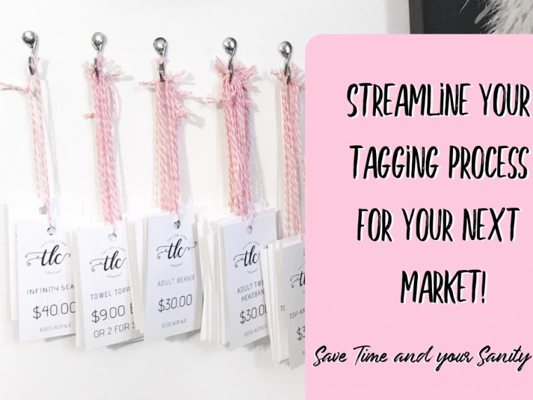 market prep, tagging, tagging items. market, craft fair, craft fair tips, market tips