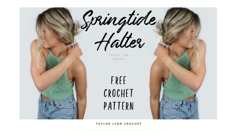 free crochet pattern, halter top pattern, crochet top, crochet halter top, spring crochet, summer crochet