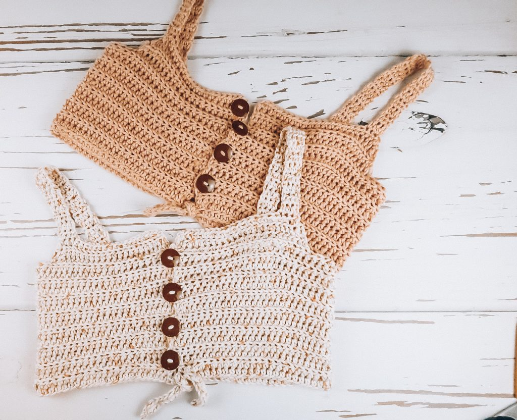Crochet pattern, crochet tank top, crochet tank pattern, crochet tank top pattern, crochet top, crochet top pattern, crochet bralette, crochet bralette pattern, easy crochet top, easy crochet pattern, crochet top for beginners, beginner crochet pattern, beginner crochet top, meadow tie top, meadow tie front, crochet meadow, crochet meadow top