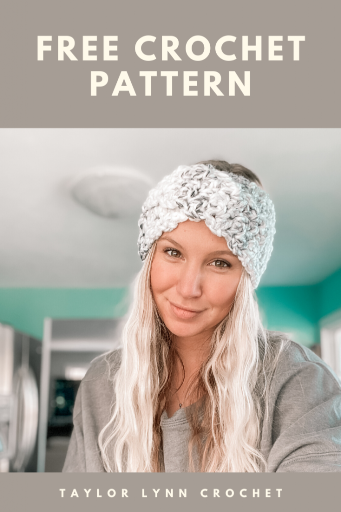 crochet pattern, crochet ear warmer, crochet headband, headband pattern, crochet headband pattern, crochet ear warmer pattern, ear warmers, lionbrand, quick crochet pattern, quick crochet tutorial, quick crochet projects, crochet market stock, taylor lynn crochet, crochet tutorial, beginners crochet, arbor ear warmer