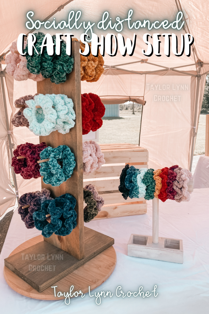 Socially distanced Craft show setup display for markets